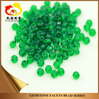 Artificial Nano Green Facets hole Loose small Abacus Beads gemstone