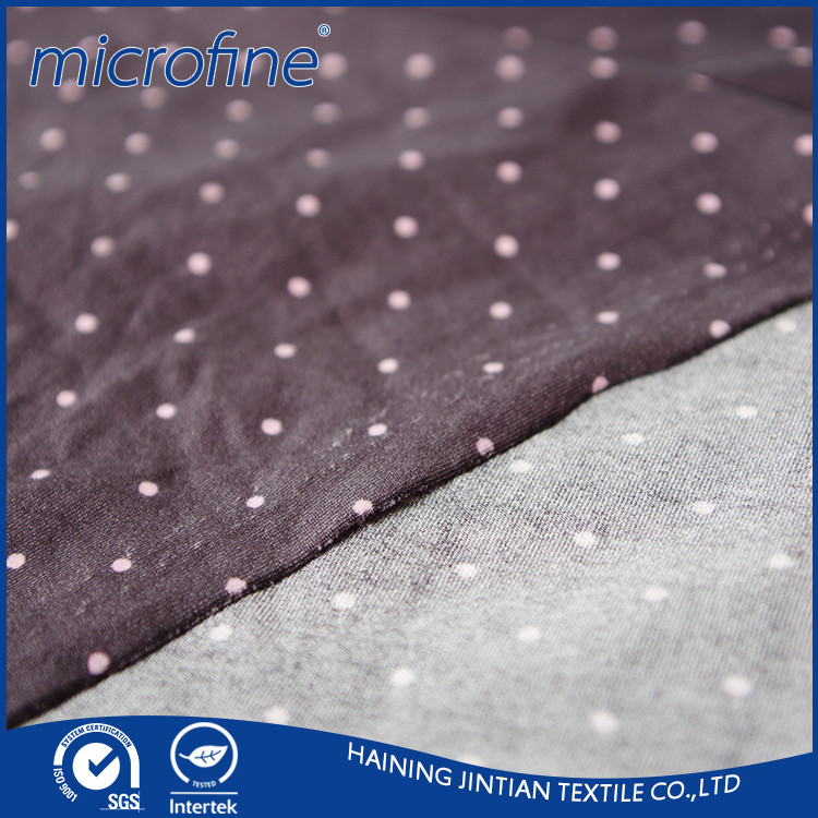 90% poly 10% spandex 4-way polyester stretch fabric for garments
