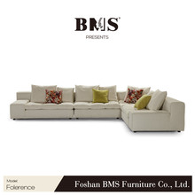 L shape white living room floor sofa seating furniture low seat sofa