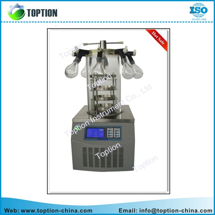 Lab Multi-pipe Top-press Desktop Vacuum Freeze Dryer TOPT-10D