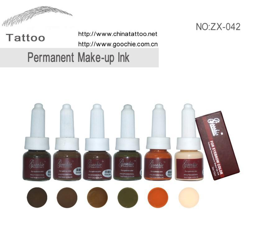 Tattoo ink type eyebrow embroidery pigment buy permanent for Brown tattoo ink cover up