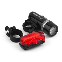 Waterproof Bicycle Lights 5 LEDs Bike Bicycle Front Head Light Safety Rear Flashlight Torch Lamp Black bike accessories