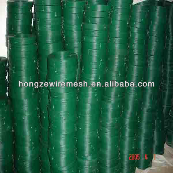 China wholesale low price ral6001 dark green color 20kg plastic covered plant twist tie wire