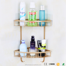 2 tiers Gold cheap bathroom storage rack corner <strong>shelf</strong> kitchen bathroom <strong>shelves</strong>