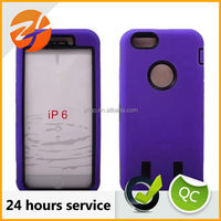 Fashion design 2 hybrid pc silicone shockproof dustproof case for iphone 6