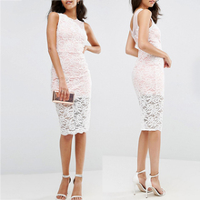 Spring summer fashion boutique dress women midi simple long lace evening dress
