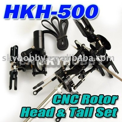 CNC metal rotor head and tail for the 500 RC helicopter