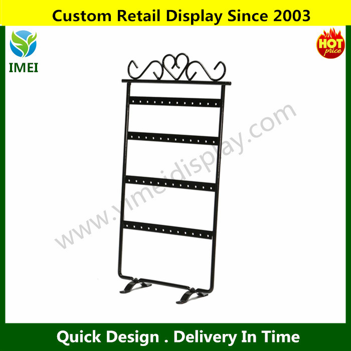 48 Holes Jewelry Organizer Jewelry Hanging Holder Display Stand Rack for Earring Necklace Bracelets Black YM5-1053