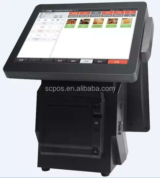 12 inch touch screen pos terminal/checkout counters/point of sale