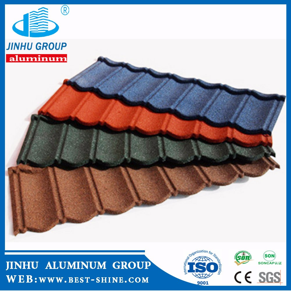 JINHU 0.40mm colorful stone coated roofing sheet metal