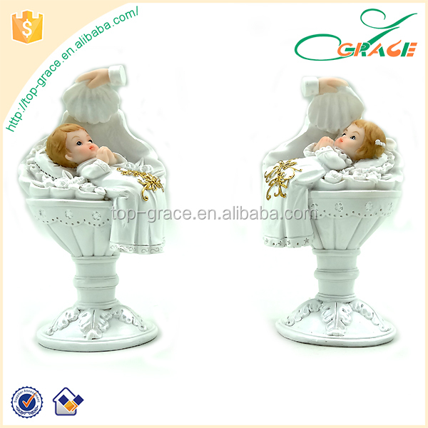 Custom first communion souvenir christening resin baptism baby figurine