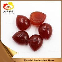 Semiprecious stone loose beads cabochon natural carnelian dyed chalcedony