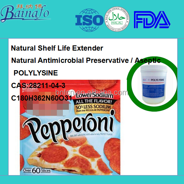 Green Natural Preservative for peperoni slices