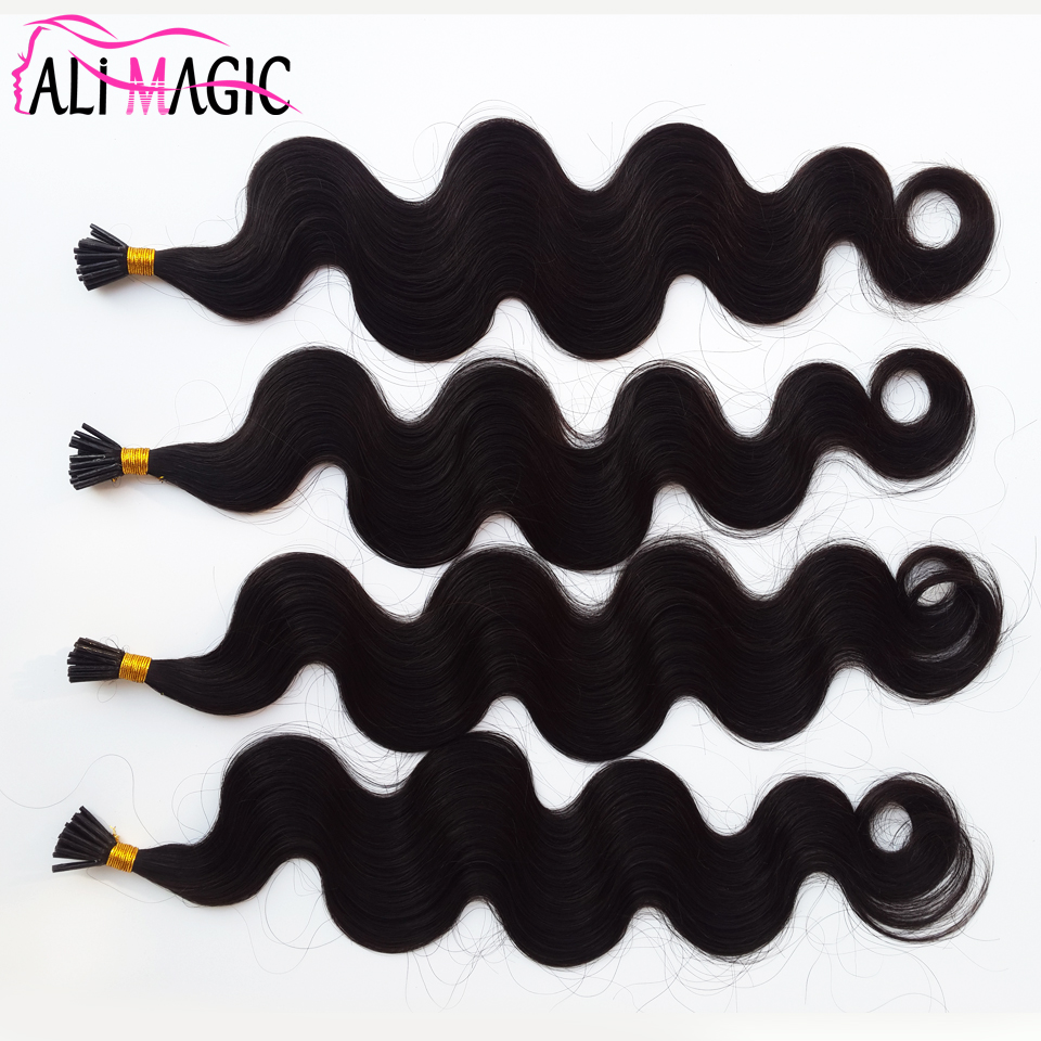 Alibaba Best Seller High Technology Dying I Tip Curly Hair Extensions