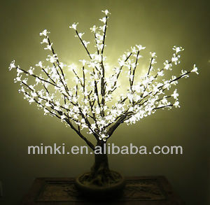 LED Tree with Cherry Flower Adapter Operated 2feet High 80LEDs
