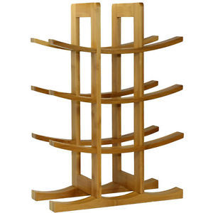 Wine Racks Wine Glass Rack Furniture Imitation Bamboo Wooden Storage Cellar Modern Wood