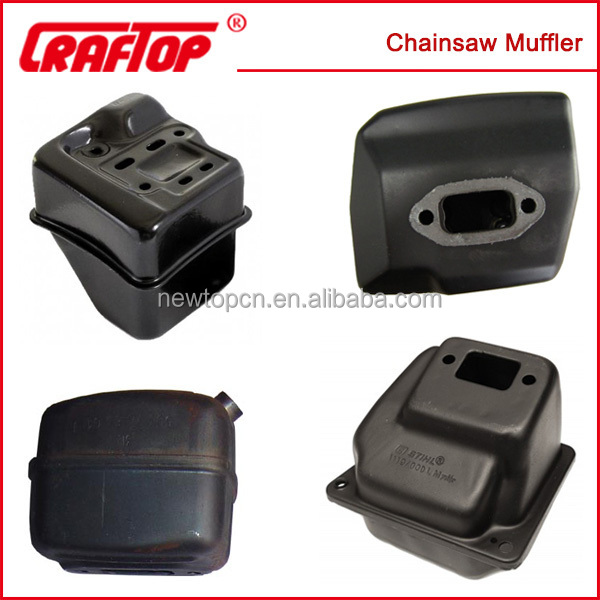 Chain saw muffler aluminum plated muffler(all kind of chainsaw parts can be provided)