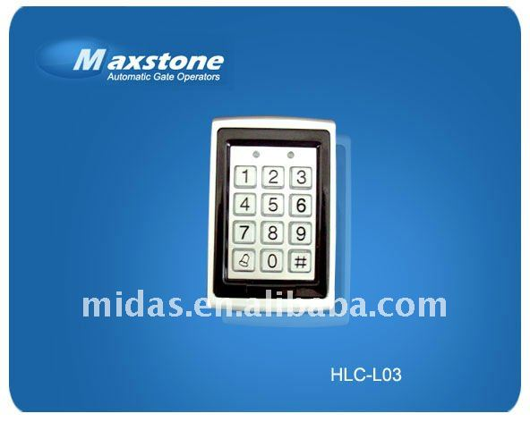 gate opener entrance guard, security door keypad, IC /ID card key pad for door opener