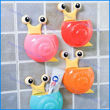 Plastic Snail Sanitary Toothbrush Holder For Kids