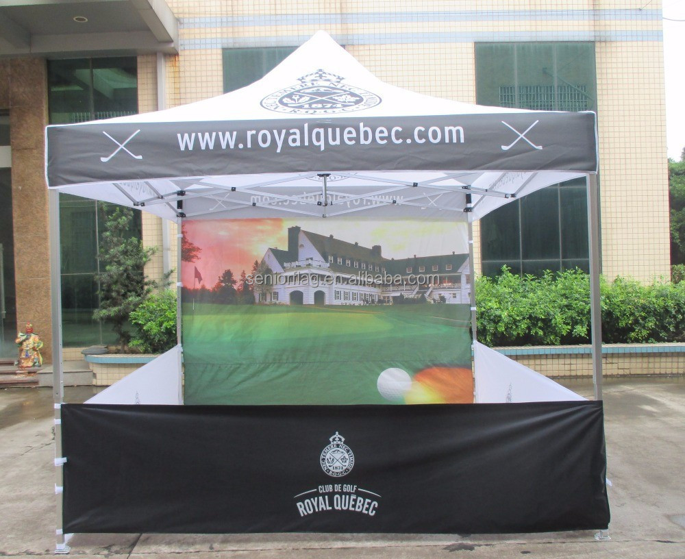 Custom printed event folding pop up gazebo marquee 3*3m aluminum frame canopy