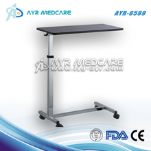 AYR-6599 hospital bed table with wooden top