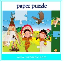 3D girl jigsaw puzzle 3d paper diy toys