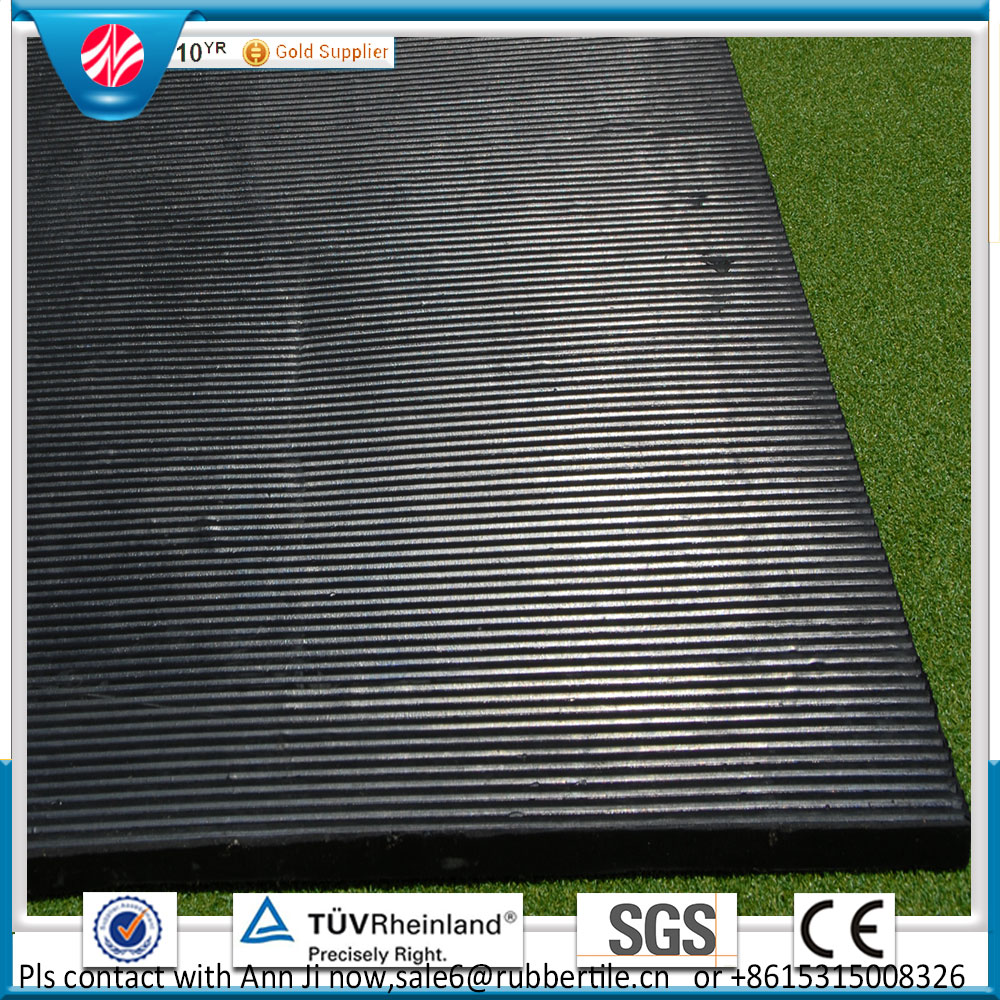 Cloth insertion rubber sheet,Agriculture rubber stable/stall matting