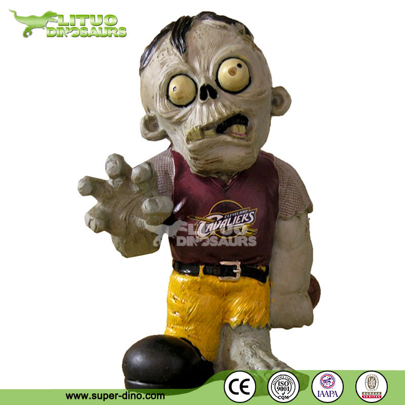 Fiberglass Game Figure Statue Zombie for Shopping Mall Ornament and Entertainment