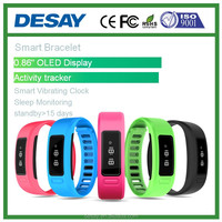 Desay Fitness Sport Tracker Bluetooth OLED Bracelet DS-B201 Smart Band Watch BT4.0 Support Android IOS