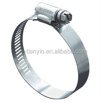 American type perforated band worm gear hose clip