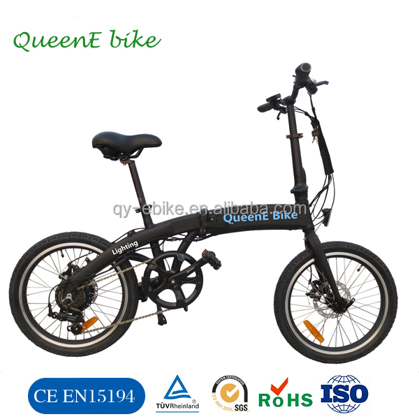 NEW electric bicycle! The lightest Li-ion quick folding portable 18kg electric bike