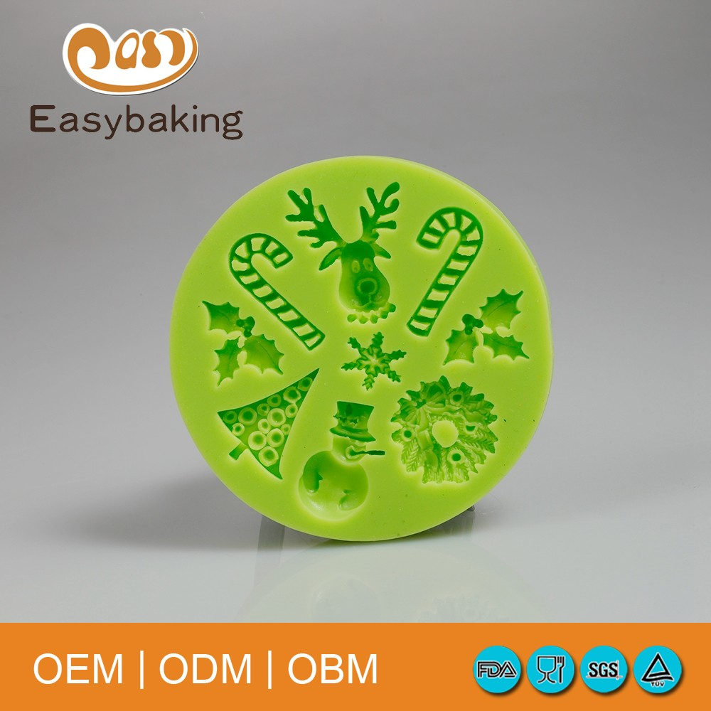 OEM China Vendor Fun Circle Silicone Mold for Christmas