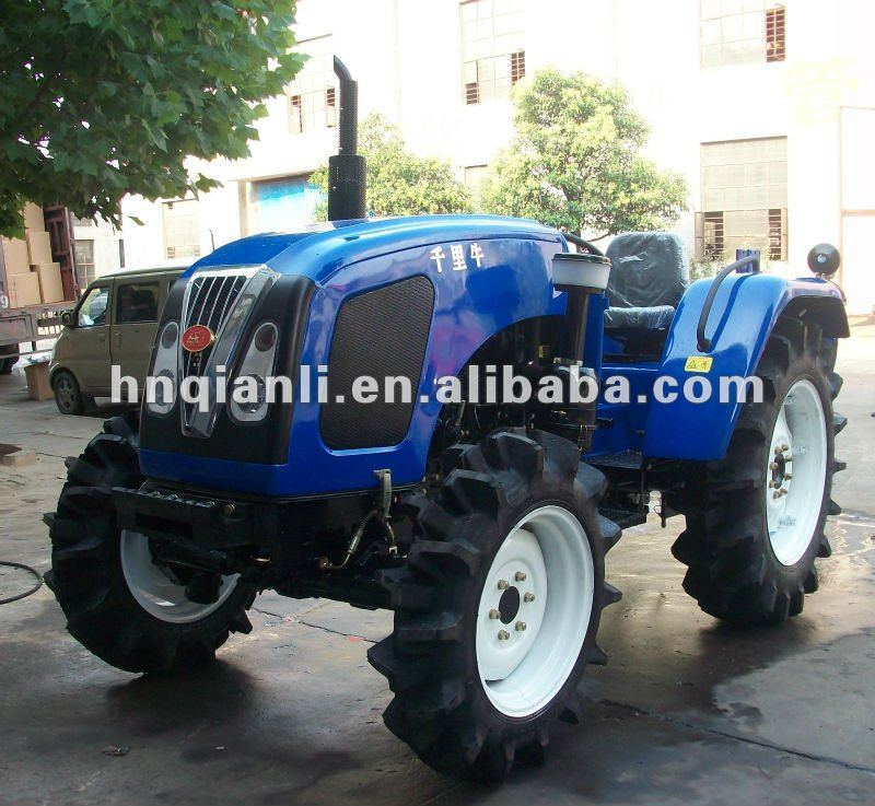 55hp 4wd wheeled farm tractor tillage, harrowing and harvester machine (QLN-554)