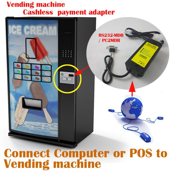 Small Vending Machine cashless payment adapter / PC computer to vending machine / PC2MDB / RS232-MDB