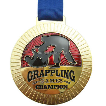 Promotional custom gold sports custom design logo metal medals