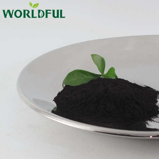 Agriculture humic acid organic fertilizer potassium humate shiny powder from natural leonardite
