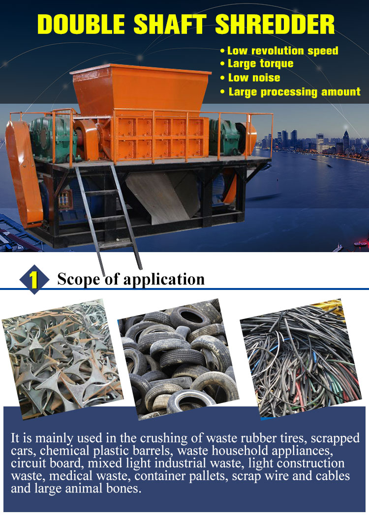 Epscoconut shell waste textile shredder machine for shredding fabric cardboard shredder
