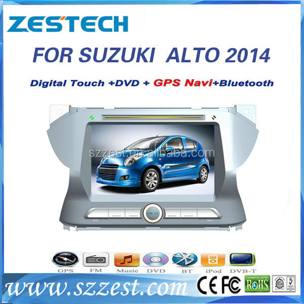 ZESTECH 2014 radio bluetooth tv audio input functions 2 din car dvd gps for Suzuki Alto