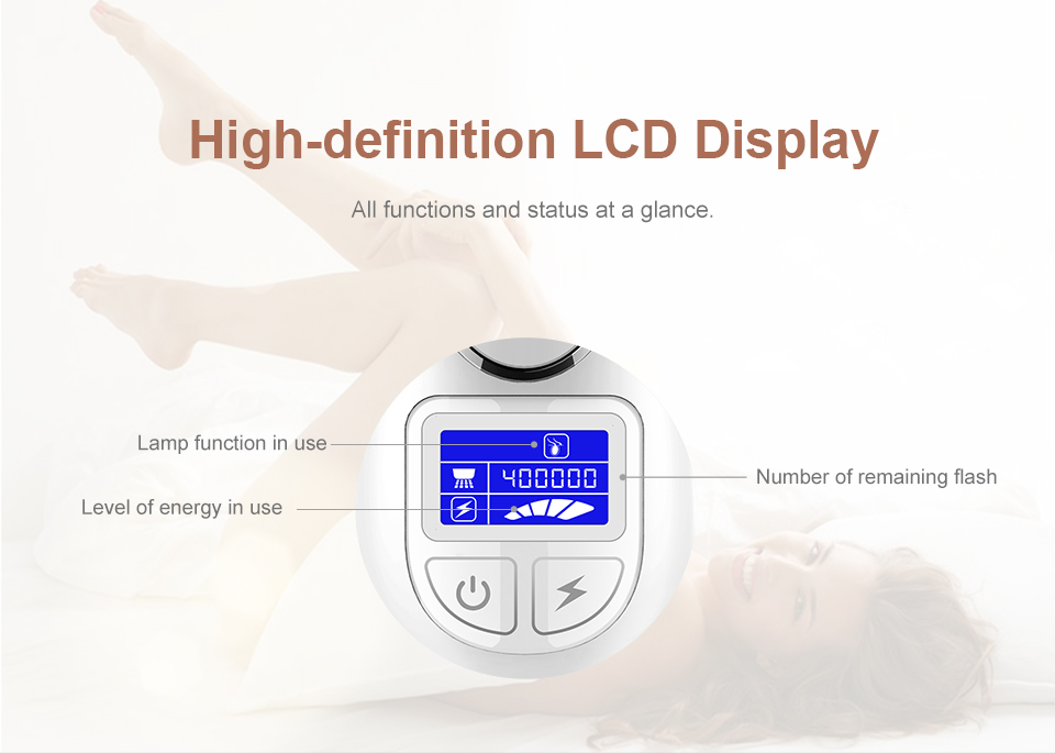 Wholesaler New Design Laser Hair Remover Body and Face Hair Removeres Electric Epilator