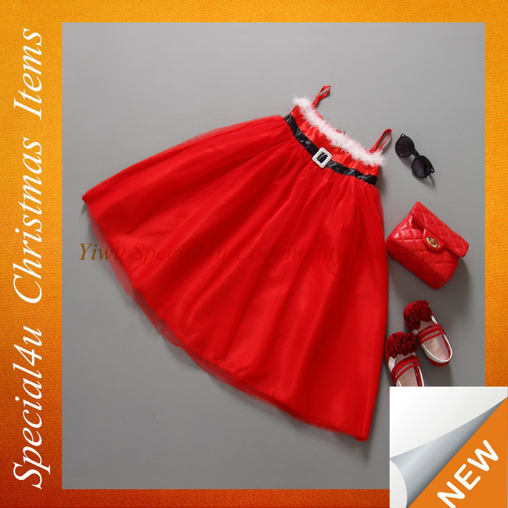 Cute girls christmas dress/Baby christmas tutu skirt/children red christmas dress SFUC-053