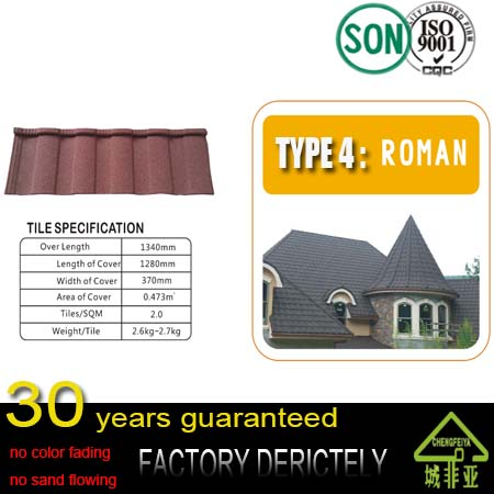 hot selling facatory Stone Coated Chip Steel Roof Tile Metal Roofing Sheets