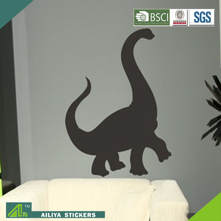 High quality lovely designs writable customized easy peel off dinosaur shape blackboard wall sticker