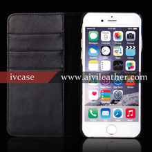 Cell Phone Cover For Iphone Case Wholesale, For Iphone 6 Cow Genuine Leather Case Credit Card