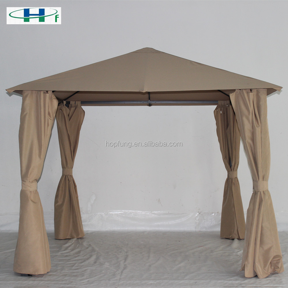 10'x10' iron tube polyester deluxe garden outdoor gazebo side curtains