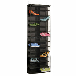 Fashion 26 pairs shoe rack organizer over the door hanging shoe organizer holder with hooks