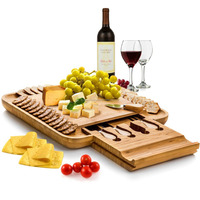 100 Solid Natural Bamboo Cheese Board