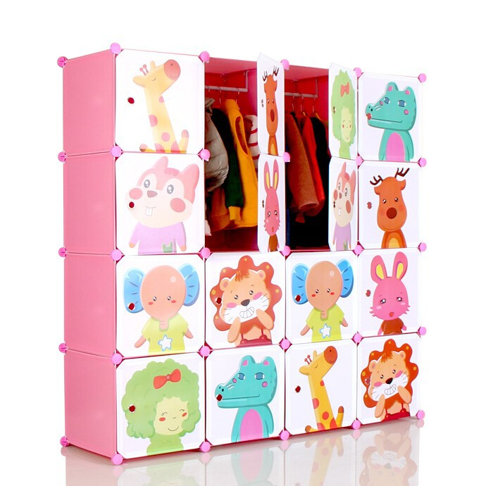 Bedroom almirah designs 16 cartoon door large clothes almirah folding cute children plastic - Almirah designs for clothes ...