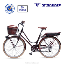"el Verona F retro city elelctric bike 250W rear motor cheaper 26""bike"
