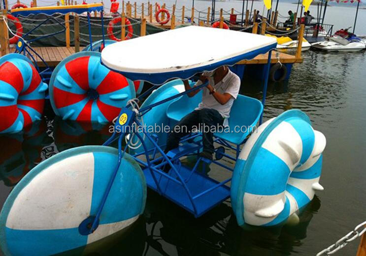 Hot giant inflatable amusement water park water bike for adults and kids
