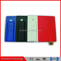 vehicle-mounted High qualtity credit card shape usb memory stick flash drive full capacity